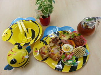 「250Nikomaru Honey Cafe Boom Boom」料理 1047448 キッズプレート