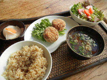 「cafe Stay Happy」 料理 69708867 お豆のコロッケご飯セット